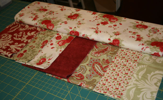 Fabric Selection_log cabin